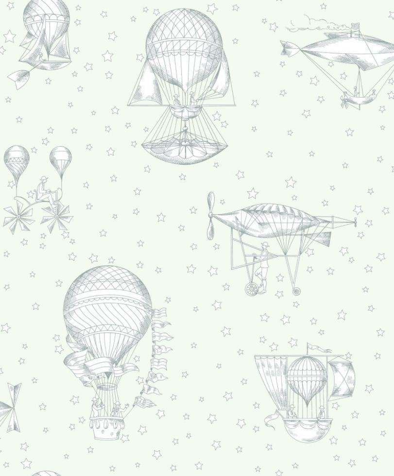 Behangpapier Witte Luchtballon