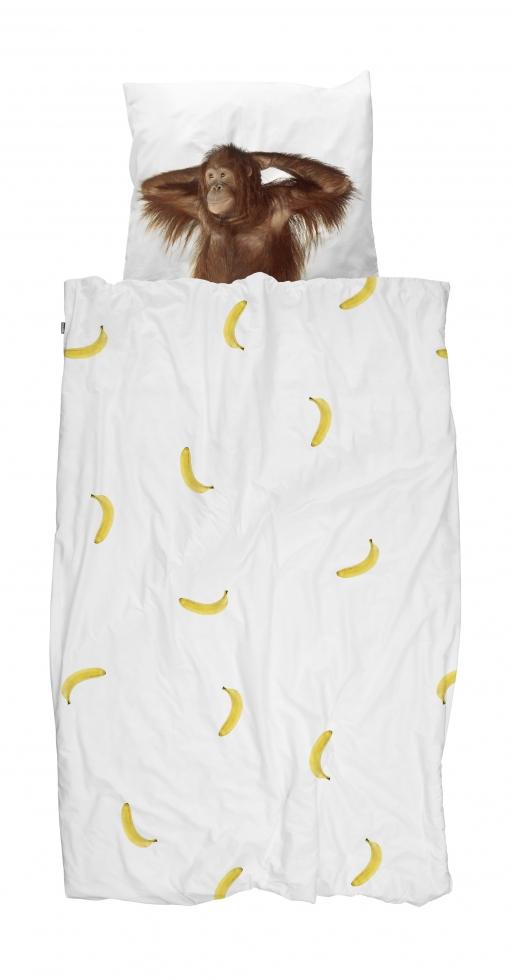 Snurk Dekbedovertrek Banana Monkey 140 x 200