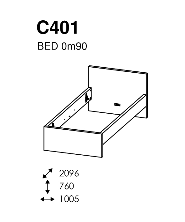 BED 090 X 200 MATCH