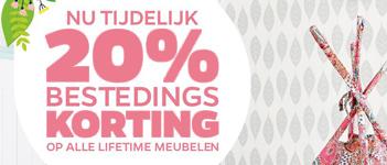 20% bestedingskorting bij Lifetime